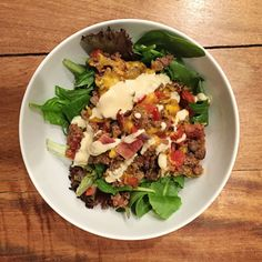 Bacon Cheeseburger Salad - 21 Day Fix Approved