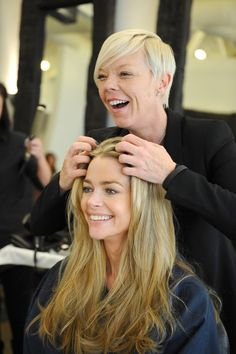 Brunette to blonde done right! Denise Richards hair is always effortlessly flawless