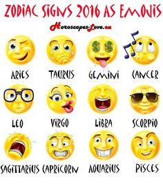 Zodiac Signs 2016 as Emojis :-)