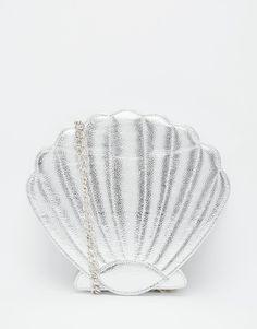 Skinnydip Mermaid Shell Across Body Bag in Silver