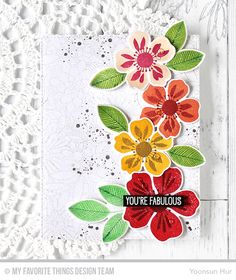 Flashy Florals Stamp Set and Die-namics, Distressed Patterns Stamp Set, WTG Time For the Bubbly Stamp Set, Bundles of Blossoms Background, Blueprints 25 Die-namics - Yoonsun Hur  #mftstamps