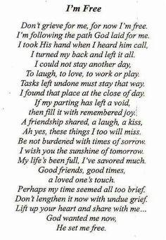 Lost loved on prayer