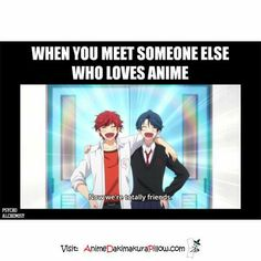 this is what happened when I met my friend Stephine Anime: Gekkan Shoujo Nozaki-kun Anime Meme, Otaku Anime, Manga Anime, Anime Amor, Anime Qoutes, Funny Anime Pics, Really Funny Memes, Stupid Funny Memes, Funny Relatable Memes