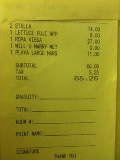 Will you Marry Me? Make here pay the check, sneaky.