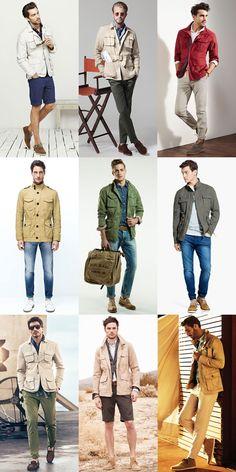 Men's Safari Jackets - Spring/Summer Outfit Inspiration Lookbook