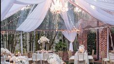 Home - Wedding Supplies Orlando Outdoor Tent Wedding, Diy Outdoor Weddings, Indoor Wedding, Home Wedding, Romantic Weddings, Wedding Tent Lighting, White Tent Wedding, Wedding Country, Wedding Shot