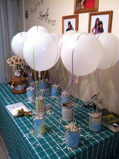 Air ballon can centerpieces