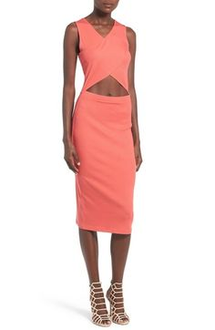 Leith Cutout Rib Knit Dress available at #Nordstrom