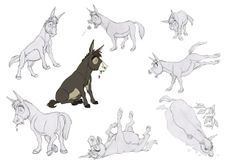 """Borja Montoro Character Design: Character design for The SPA Studio& """"Giaco. Character Concept, Character Art, Concept Art, Character Design Animation, Character Design References, Animal Sketches, Animal Drawings, Donkey Drawing, Spa Studio"""