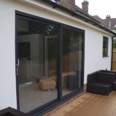 DWL's range of aluminium sliding doors are the perfect solution - increasing natural light in and extremely user friendly. Aluminium Sliding Doors, Sliding Door Systems, Aluminium Windows, French Doors Patio, Patio Doors, Victorian Terrace, Coach House, Double Glazed Window, Conservatories