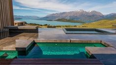 Hot and cold plunge baths in a beautiful Queenstown setting.