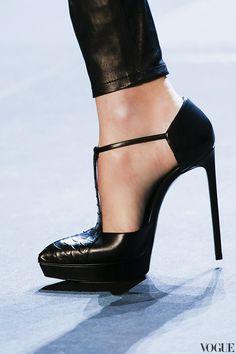 Yves Saint Laurent | black piton high heels