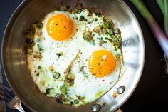 Spring Garlic Fried Eggs · The Crepes of Wrath - The Crepes of Wrath