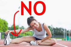 Stop stretching before you run. - 25 Crazy Clever Hacks That Actually Make Running Awesome