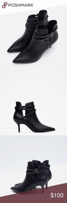 ZARA High Heel Studded Ankle Boots New with tags attached. Never worn. EU 41 = US 10. Bundle to save. Zara Shoes Ankle Boots & Booties