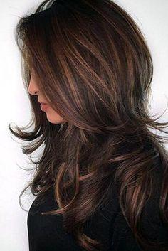 Balayage Hair in Brown to Caramel.