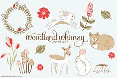Woodland Whimsy 2 .PNG Clip Art Set by Studio Chem on Creative Market