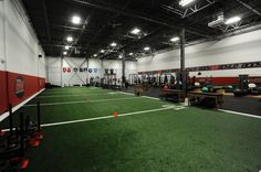 The cutting edge facilities feature 2,000-plus square feet of multiuse turf for sprints, drills, and sled work, along with functional training equipment