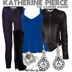 Inspired by Nina Dobrev as Katherine Pierce on The Vampire Diaries. The Vampire Diaries, Vampire Diaries Fashion, Vampire Dairies, Tv Show Outfits, Fall Outfits, Casual Outfits, Fashion Outfits, Womens Fashion, Fashion Styles
