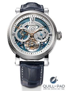 Quill & Pad has the extreme honor to introduce you to the Grieb & Benzinger Blue Merit, a unique collector's item created from one of the rarest serial movements in watch history: A. Lange & Söhne's Tourbillon Pour le Mérite. Best Watches For Men, Fine Watches, Luxury Watches For Men, Cool Watches, Rolex Watches, Tourbillon Watch, Skeleton Watches, Dream Watches, Expensive Watches