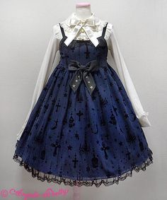 Angelic Pretty - Holy Lantern ((navy x black))