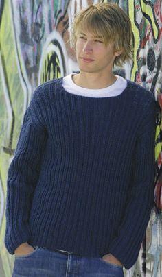 Strik en flot sweater til ham du kan li'