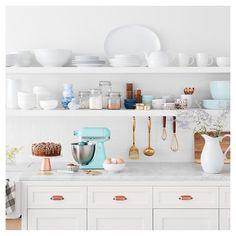 Marbled Vase White/Blue Small - Threshold™ : Target
