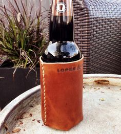 Leather Beer Cozy by Loper and Haas on Scoutmob Shoppe