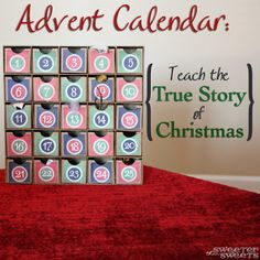 This easy to make advent calendar allows kids to experience and remember the different parts of the events surrounding the birth of Jesus.