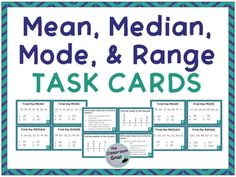 84 best upper elementary math images on pinterest secondary school mean median mode and range task cards includes line plots fandeluxe Gallery