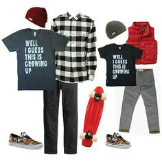 Dad and little man ootd with Growing Up tees by Dear Cub www.dearcub.com