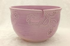 Pink Berries Yarn Bowl