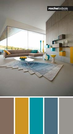 Creative Living Room Color Schemes [Paint Colors and Color Combination] Living Room Colour Design, Living Room Color Schemes, Living Room Designs, Living Room Modern, Home Living Room, Living Room Decor, Living Room Green, Living Room Paint, Pallet Furniture For Sale