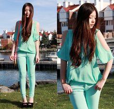 Mint (by Chantal Li) http://lookbook.nu/look/3530661-Mint
