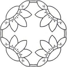17 New Ideas Patchwork Sin Agujas Pattern Wool Applique, Applique Patterns, Applique Quilts, Quilt Patterns, Flower Patterns, Penny Rug Patterns, Mosaic Patterns, Beading Patterns, Quilting Stencils