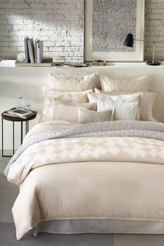 The soft @verawanggang Basketweave Bedding Collection makes for a restful night's slumber.