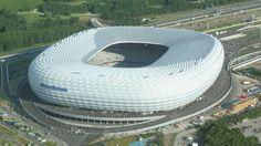 Overhead look at Munich's Allianz Arena