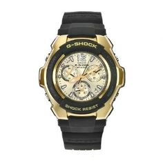 Casio Mens G1000H-9 G-Shock Gold Dial Shock Resistant Chronograph Watch