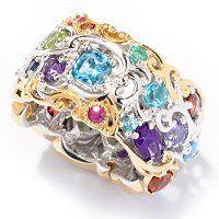 "Gems en Vogue II Multi-Gemstone ""Carnaval"" Eternity Band Ring ShopNBC.com// awesome!  #shopnbcFavorites"