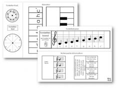"Unterrichtsmaterial, Übungsblätter für die Grundschule | Faltbuch: ""Notenlehre""… Primary Teaching, Teaching Music, Piano Lessons, Music Lessons, Music Notes Art, Bible Notes, Music School, Music Aesthetic, Piano Music"