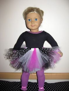 18 Inch Doll Tutu With Free Hairbow for Doll - READY TO SHIP