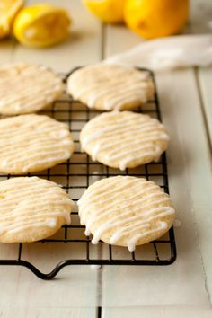Glazed Lemon Cookies- add as much or as little lemon as you like! Such a good recipe!