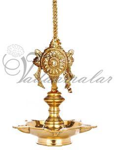 Chakar brass diya