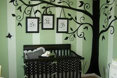 Large Silhouette Tree Decal