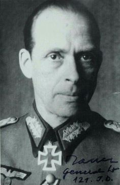 Generalleutnant  Werner Ranck  (25 October 1904 - 07 December 1989), commander 121. Infanterie Division, 218. Infanterie Division. Knight's Cross on 02 March 1945 as GM and commander 121. ID. Ranck surrendered to the Soviet forces in May 1945 in the Courland Pocket. Convicted as a war criminal in the Soviet Union, he was held until 1955.