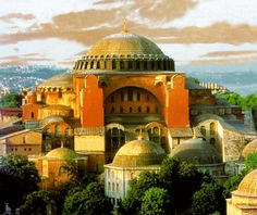 The Hagia Sofia (eye-ya so-fee-ya) a wonder of the ancient world. It's vast interior was a revolution in architecture. It has been witness to bloody massacres, the over throw of dynasties, earthquakes, Christianity, Islam, secularism. It is time itself.