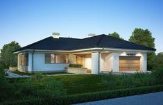 DOM.PL™ - Projekt domu FA Julia CE - DOM GC5-64 - gotowy koszt budowy Gazebo, House Plans, Shed, Floor Plans, Exterior, Outdoor Structures, Flooring, Architecture, Houses