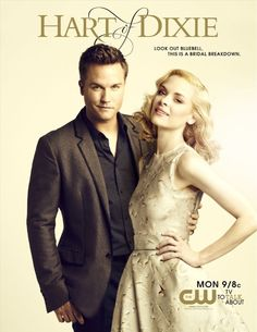 Scott Porter (George Tucker)  Jaime King (Lemon Breeland) - Hart of Dixie  I love the actress who plays Lemon