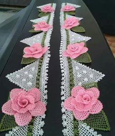 Crochet Flower Tutorial Part 2 irish crochet flowers free patterns Filet Crochet, Irish Crochet, Knit Crochet, Baby Knitting Patterns, Crochet Home, Crochet Flowers, Needlework, Free Pattern, Silk Ribbon Embroidery
