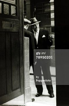 circa 1950, Jack Comer, (known in the London Underworld as Jack Spot) born 1912, who was notorious for running protection rackets, illegal gambling and violence (Photo by Popperfoto/Getty Images) Real Gangster, Mafia Gangster, Protection Racket, The Krays, Al Capone, Old London, Vintage London, Mobsters, Underworld